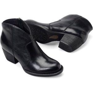 Born Black Michel Western Style Booties LIKE NEW